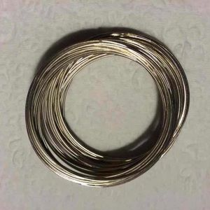 "Other - 50 loops of silver-tone memory wire: 1.75"" × 0.6mm"